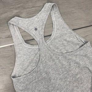 Lululemon yogi racer back grey tank top pocket 12
